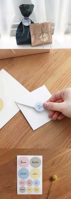 This wonderful Paperian Message Sticker spreads simple messages in the most stylish way! Send a simple message with your gifts, or make your items sensational with the help from these stickers!