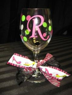 Personalized Vinyl Lettered Wine Glasses
