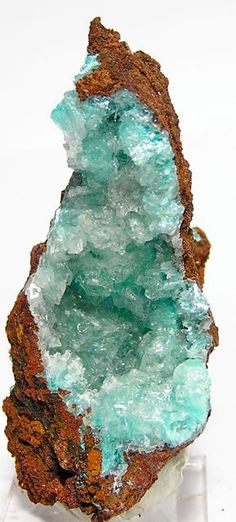 Sky Blue Aurichalcite with Gypsum Crystals by FenderMinerals, $18.00
