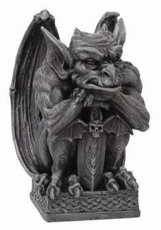 Gargoyle with Shield Statue Cold Cast Resin Figurine PTC https://www.amazon.com/dp/B005SE9E6E/ref=cm_sw_r_pi_dp_x_9eP5ybC9HP4P2