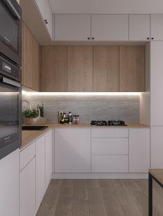 Industrial Kitchen Design, Kitchen Room Design, Kitchen Cabinet Design, Modern Kitchen Design, Kitchen Decor, New Kitchen Interior, Home Interior Design, Small Kitchen Ideas On A Budget, Home Entrance Decor