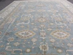 14'x24' New Blue Hand knotted wool Antiqued Turkish Oushak Oriental area rug | Home & Garden, Rugs & Carpets, Area Rugs | eBay!