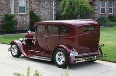 Hot Rod Car Town   1931 FORD MODEL A TOWN SEDAN STEEL BODY WAGON CUSTOM SHOW CAR HOT RAT ...