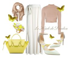 """""""Hijab Outfit"""" by le-hijab-de-doudou ❤ liked on Polyvore featuring Lanvin, Jonathan Simkhai, CÉLINE, Michael Stars, Jimmy Choo and SHOUROUK"""