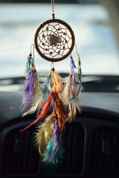 Small Car Dream catcher Hippie Dream catcher by BlueDreamcatcher