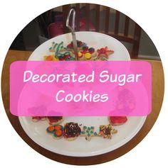 My Wonderland: Simple Decorated Sugar Cookies