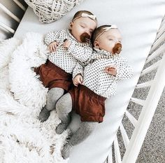 How sweet are these twin baby girls? Pacifier clips are a must have for every mo Twin Girls Outfits, Twin Baby Girls, Twin Babies, Cute Baby Girl, Baby Love, Cute Babies, Boy Baby Shower Themes, Baby Shower Gifts, Baby Gifts