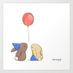 Birthdays Art Print by Jess Wong