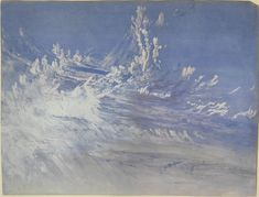 John Ruskin I After James Mallord William Turner I Watercolour & gouache Landscape Drawings, Watercolor Landscape, Landscape Paintings, Joseph Mallord William Turner, Turner Painting, Painting & Drawing, Painting Clouds, Turner Watercolors, John Everett Millais