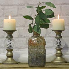 Chunky Bronze Bottle Vase - available from @theweddingomd