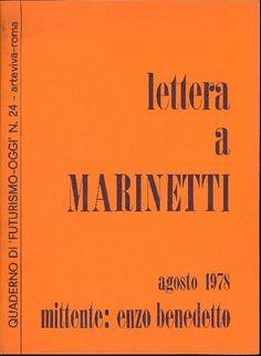 BENEDETTO Enzo, Lettera a Marinetti. Roma,  Arte Viva,  1978