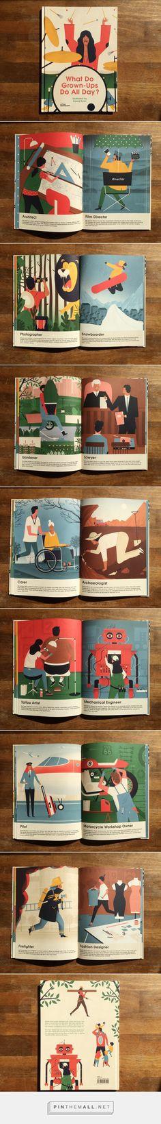 what do grown-ups do all day? | little gestalten | book on Behance - created via https://pinthemall.net