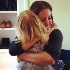 Stephanie Levesques with one of her daughter
