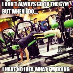 YOU SURE YOU KNOW WHAT YOU ARE DOING???? One of my friends shared this with me and I think it is just hilarious! THIS IS WHY YOU NEED A TRAINER!!!! ***TOP WORKOUT MISTAKES:*** -Poor form -Not Stretching -Lack of INTENSITY (when you are done working out...you should be SWEATING AND TIRED!) -Using too light of weights (you need to sculpt your -muscles.) -Using too heavy of weights (poor form) -Talking to much at the gym (wear a hat and headphones!) -Taking SELFIES at the gym (Come on people…