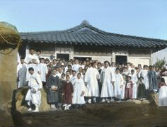 Another church. Japanese Colonial Period tinted postcard art/photography.