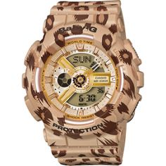 G-Shock Baby-G Leopard Print Watch, Jewelry & Accessories - Bloomingdale's G Shock Watches, Sport Watches, Rolex Watches, Wrist Watches, G Watch, Casio Watch, Watch Sale, Baby G Shock, Brown Leopard