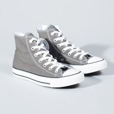 Women's Charcoal All Star Core Hi Trainers ($60) ❤ liked on Polyvore featuring shoes, sneakers, high top trainers, star sneakers, high top sneakers, converse footwear and rubber sole shoes