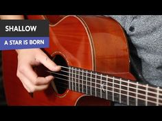"""""""Shallow"""" Fingerstyle INTRO only Guitar Tutorial (A Star Is Born) - YouTube Guitar Chord Sheet, Free Guitar Chords, Gitarrenakkorde Songs, Guitar Tutorial, A Star Is Born, Shallow, Music Instruments, Stars, Youtube"""