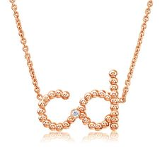 This would make a great push present!  Custom Beaded 2 Initial Diamond Necklace - initials & names - necklaces
