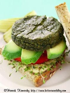 Green Goddess Burgers by bittersweetblog #Veggie_Burger #bittersweetblog