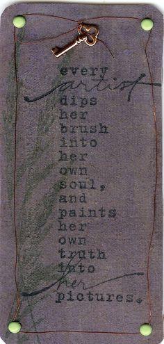 every artist...