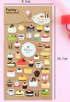 Hey, I found this really awesome Etsy listing at https://www.etsy.com/listing/185609180/korean-scrapbook-sticker-cake-sticker
