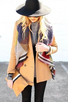 A scarf can make wonders when it comes to outfits but the real trend are blanket scarves. Check some examples at https://glamshelf.com