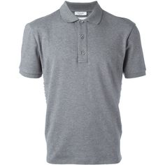 Valentino Rockstud polo shirt (€810) ❤ liked on Polyvore featuring men's fashion, men's clothing, men's shirts, men's polos, grey, mens gray dress shirt, mens cotton shirts, mens short sleeve polo shirts, mens polo shirts and men's cotton polo shirts
