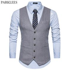 Buy New Woolen Suit Vest Men 2018 Fashion Single Breasted Wool Vest Waistcoat Mens Slim Wedding Business Tuxedo Vests Gilet Homme at Wholesale Price. Free or Lowcost Worldwide Shipping. And large of options in our best Suits & Blazer category with cheapest price on Pricetug.com White Vest Mens, Mens Suit Vest, Mens Suits, Costumes Slim, Dress Suits For Men, Men Dress, Grey Wool Suit, Wool Vest, Gilet Costume