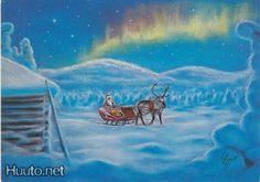 Terho Peltoniemi Northern Lights, Heaven, Winter, Nature, Christmas, Vintage, Art, Craft Art, Sky