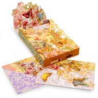 Pouch Note Cards Pastel Butterflies