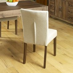 Flare back Upholstered Dining Chair (PACK OF TWO) - Dining Chairs - Kitchen & Dining