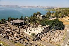 The ruins of Capernaum, the headquarters of Jesus' ministry. Capernaum was a fishing village in the time of the Hasmoneans. Located on the northern shore of the Sea of Galilee, Israel. (V)