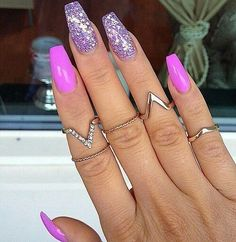60 Best Stunning Nails Inspirational Idea 😘 include Acrylic Nails, Matte Nails and Stiletto Nails - Diaror Diary - Page 25 ♡♥ 𝕴𝖋 𝖀 𝕷𝖎𝖐𝖊, 𝕱𝖔𝖑𝖑𝖔𝖜 𝖀𝖘! ♥♡ ♥ ♥ ♥ ♥ ♥ ♥ ♥ ♥ ♥ ღ♥Hope you like this collection Pretty nails design! Sexy Nails, Hot Nails, Fancy Nails, Stiletto Nails, Nails On Fleek, Trendy Nails, Glitter Nails, Hair And Nails, Matte Nails