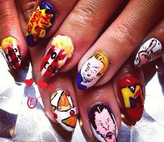 Beavis and butthead nails.