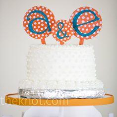 White Polka Dot Cake