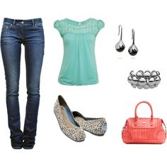not loving the purse or shoes but the rest is lovely