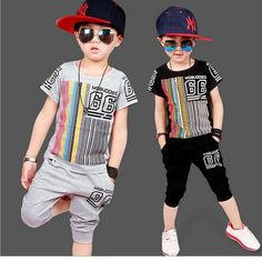 Cheap kids hip hop clothing, Buy Quality toddler boys clothing directly from China vetement enfant garcon Suppliers: Toddler Boys Clothing Casual Vetement Enfant Garcon Fashion Boy Clothes Cool Kids Hip Hop Clothing Sports Suit Boys Summer Outfits, Toddler Boy Outfits, Summer Clothes, Baby Boys, Kids Boys, Toddler Boys, Hip Hop Outfits, Sport Outfits, Hip Hop Kleidung