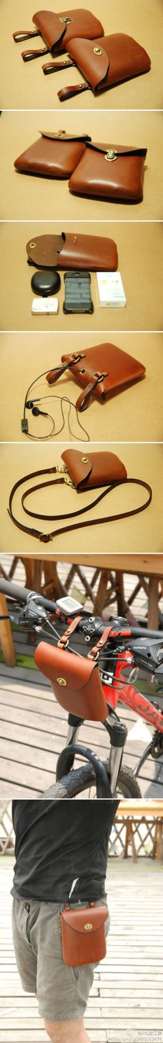 More Leather Bag Design, Small Leather Bag, Leather Belt Pouch, Leather Card Wallet, Leather Workshop, Hip Bag, Leather Pattern, Leather Projects, Leather Accessories