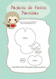 Pattern for the felt Christmas bird Snowman Christmas Ornaments, Felt Ornaments, Christmas Crafts, Christmas Bird, Felt Crafts Patterns, Needle Felting Tutorials, Felt Books, Felt Fabric, Stuffed Animal Patterns