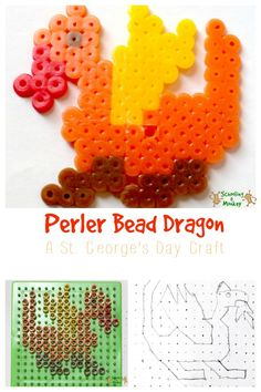 Looking for a simple and fun craft for St. This St. George's Day craft features the dragon that made the saint so famous. Holiday Crafts For Kids, Easy Crafts For Kids, Craft Activities For Kids, Toddler Crafts, Preschool Crafts, Diy For Kids, Creative Arts And Crafts, Creative Kids, St Georges Day