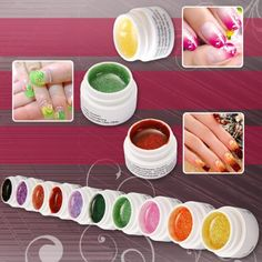 10pcs Nail Art Color UV Gel Mix Glitter Powder For Nail Tip Builder -- You can get additional details at the image link.