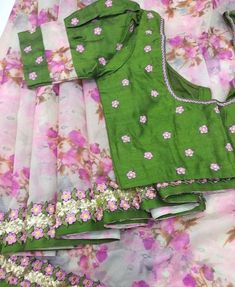 Images for Blouse Designs Kids Blouse Designs, Simple Blouse Designs, Stylish Blouse Design, Fancy Blouse Designs, Bridal Blouse Designs, Designer Blouse Patterns, Designer Dresses, Design Floral, Saree Blouse