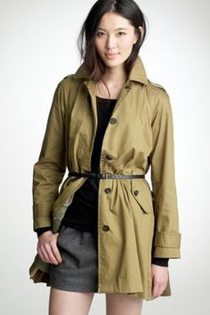 J.Crew Swing-Out Slicker, $298, available at J.Crew.