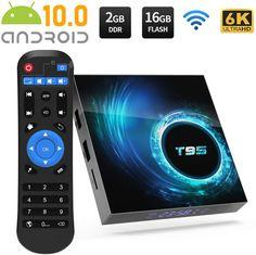 TV Box Android 10.0 4GB Ram 64GB ROM Support Dual WiFi 2.4G 5G Compatible con 6K 4K Ultra HD H.265 3D Allwinner H616 Quad-Core Bluetooth 4.1 Smart TV Box con Mini Teclado