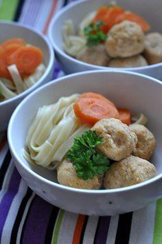 Pulpety z kurczaka i warzyw z rosołu