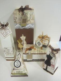 """Un paseo por París"" packaging collection by 'Idea Papel Tijera'. http://www.facebook.com/IdeaPapelTijera"