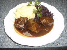 Some Recipe, Good Food, Food And Drink, Beef, Snacks, German Recipes, Recipe, Schnitzel Recipes, Goulash