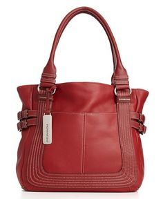 Always attracted to RED purses! kinda baggag, red purs, handbags, tignanello handbag, shops, colors, stitch savvi, purses, stitches