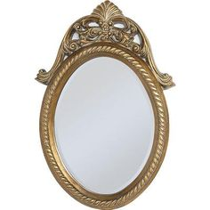 Gilt Oval Accent Mirror